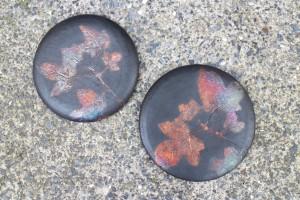 Blätter Raku Kupfermatt Keramik