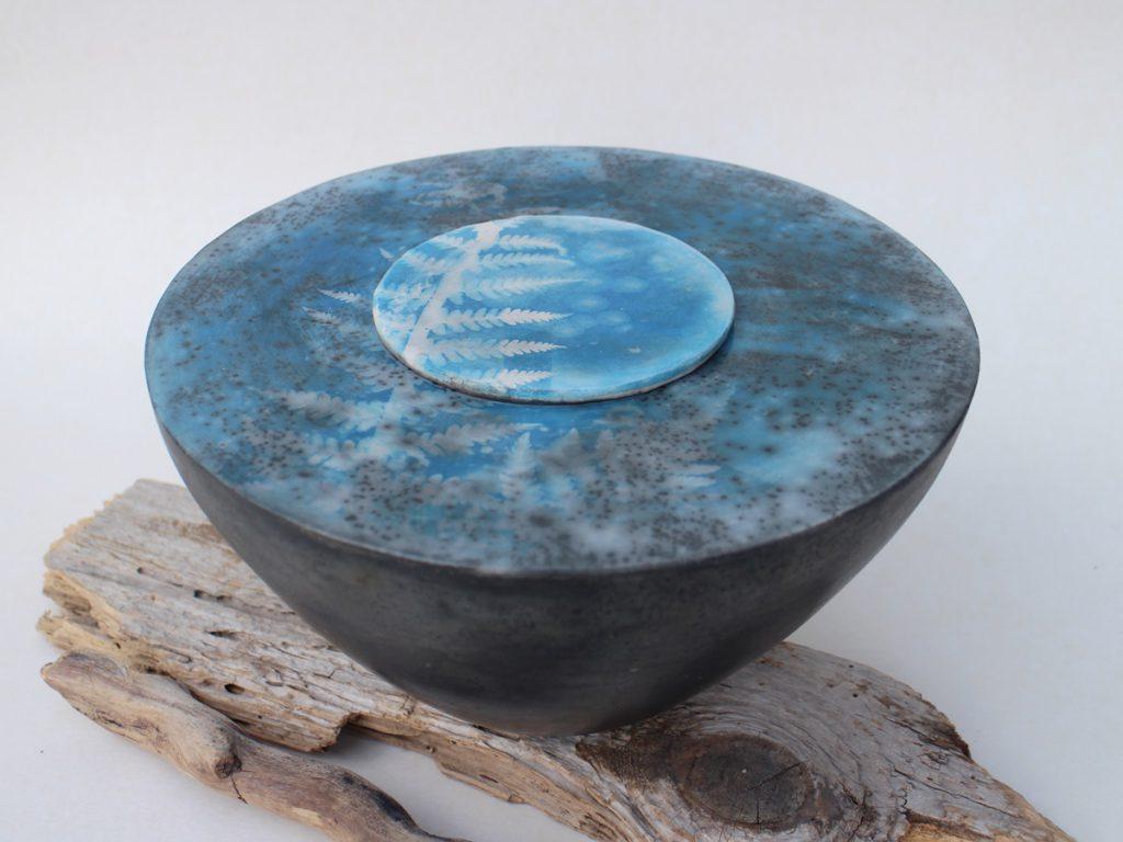 Cyanotypie auf Keramik