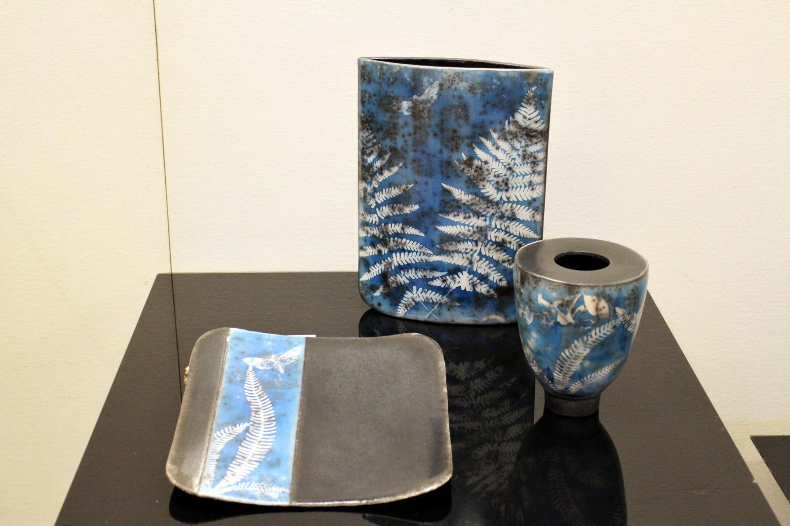 Cyanotypie Keramik Farn