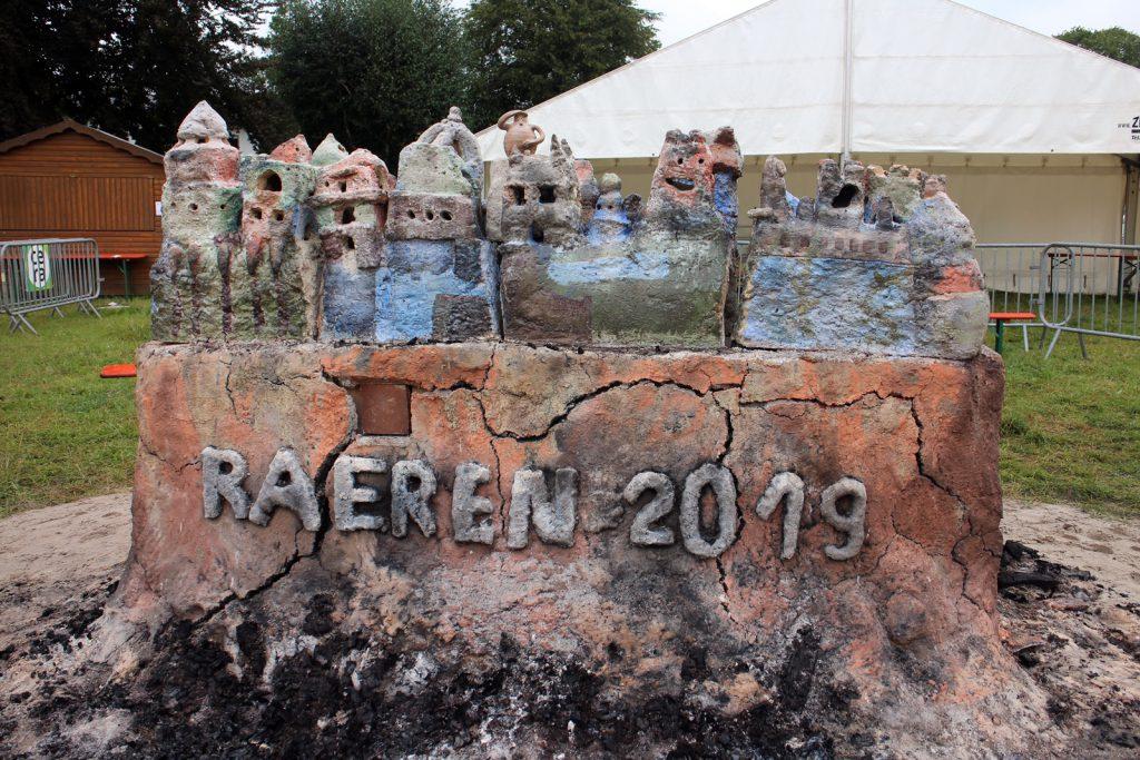 Feuerskulptur Keramimarkt Raeren 2019