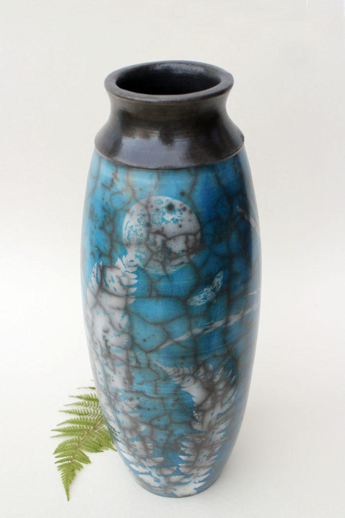 Cyanotypie auf Raku Keramik